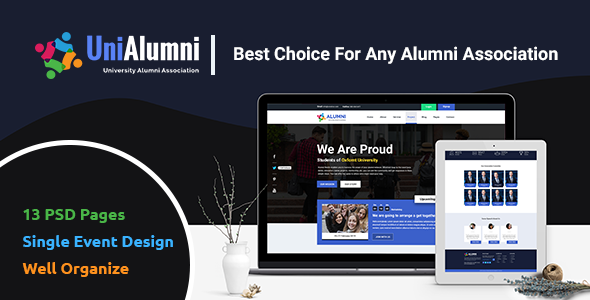 UniAlumni - University Alumni PSD Template