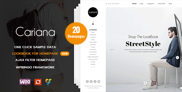 Cariana - WooCommerce Lookbook Fashion Theme