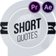 Short Quotes - VideoHive Item for Sale
