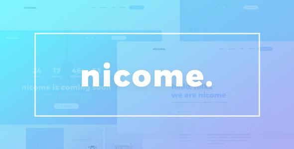 Nicome - Creative Multipurpose Responsive HTML Template