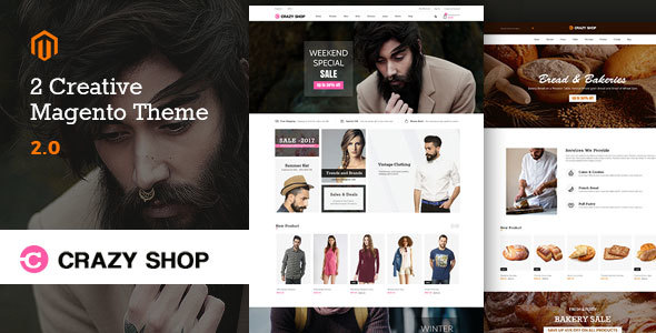 Crazyshop Multipurpose Responsive Magento2 Theme   Fashion Store   Watch Store   Food Stor