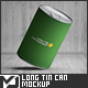 Long Tin Can Mock-Up - GraphicRiver Item for Sale