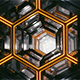 Sci-Fi Hexagon Tunnel VJ Loop (4K) - VideoHive Item for Sale