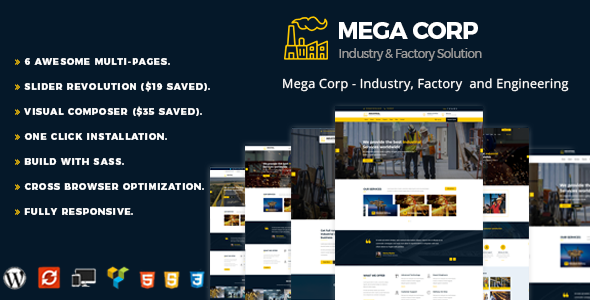 MegaCorp - Industrial Industry & Factory