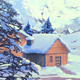 Snowy Village - Game Background - GraphicRiver Item for Sale