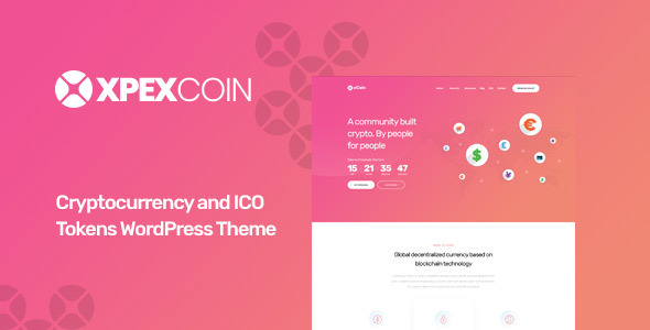 XPEXCoin - Cryptocurrency WordPress Theme