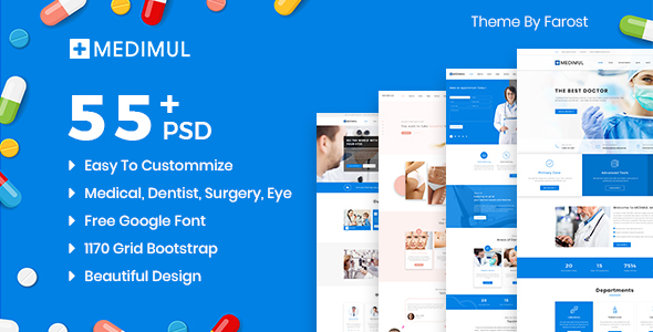 Medimul - Multi-Purpose Medical Health PSD Template
