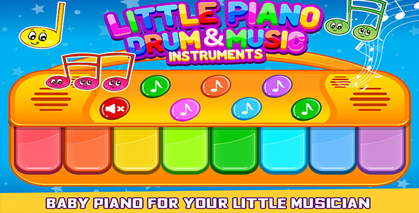 Little Piano Drum And Music Instrument For Kids Game