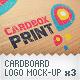 Cardboard Logo Mockup Pack With Custom Backgrounds - GraphicRiver Item for Sale