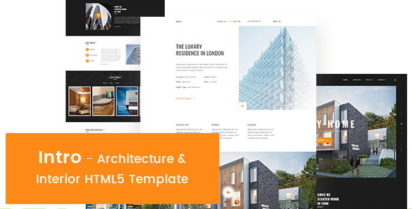 Intro - Architecture & Interior HTML5 Template