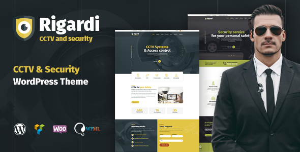 Rigardi - CCTV Security Company & Body Guard WordPress Theme