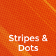 Stripes & Halftone Dots Backgrounds - GraphicRiver Item for Sale