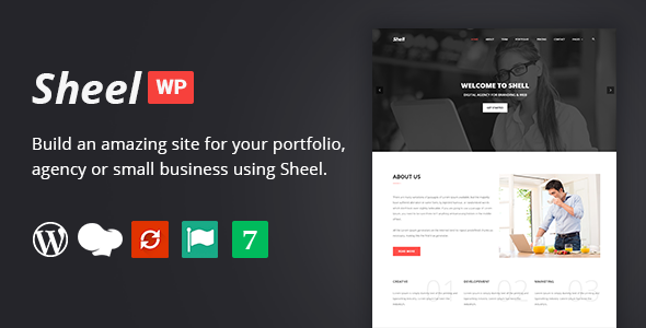 Sheel - Creative Agency and Business Landing Page WordPress Theme