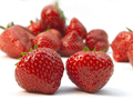 Two fresh ripe red strawberries - PhotoDune Item for Sale
