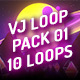 VJ Loops Pack 01 - Retrowave Psychedelic Mix - VideoHive Item for Sale