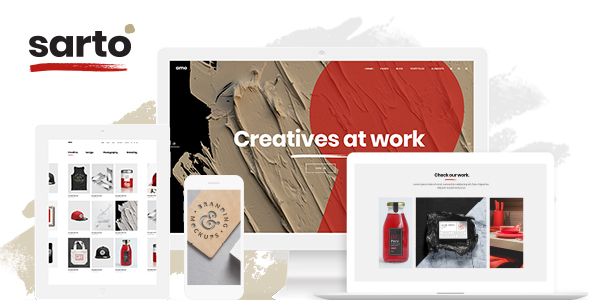 Sarto -  Web Design & Creative Agency Theme