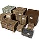 Transport crates Pack3 PBR - 3DOcean Item for Sale