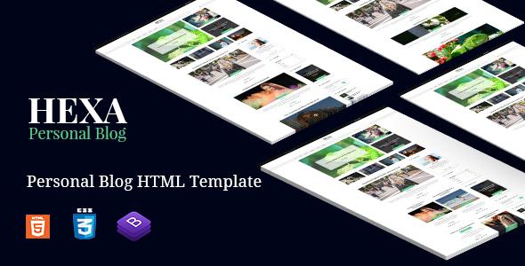 Hexa - Clean Modern & Classic Blog Site Template