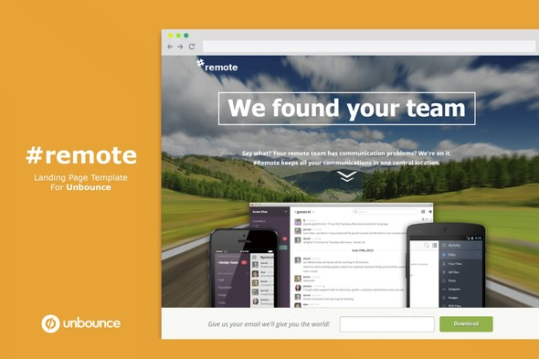 Remote | Unbounce Landing Page with Fullscreen Video Header