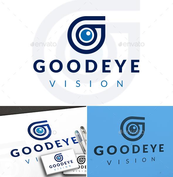 Eye G Letter Locator Logo