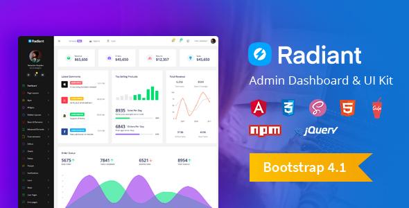 Radiant Bootstrap 4 Admin Template + Angular 5 Starter Kit