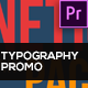 Typography Promo - VideoHive Item for Sale