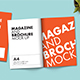 A4 Brochure and Magazine Mock-Up - GraphicRiver Item for Sale