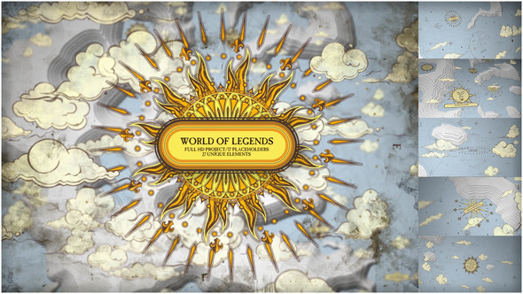 World of Legend / Map Cinema Titles/ Games of Throne/ Fairy Tale Story/ History Pirates Film Opening