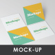 Square Business Card Mockups - GraphicRiver Item for Sale