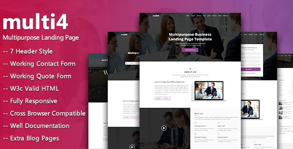 multi4  – Multipurpose Business Landing Page