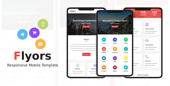 Flyors - Responsive Mobile Template