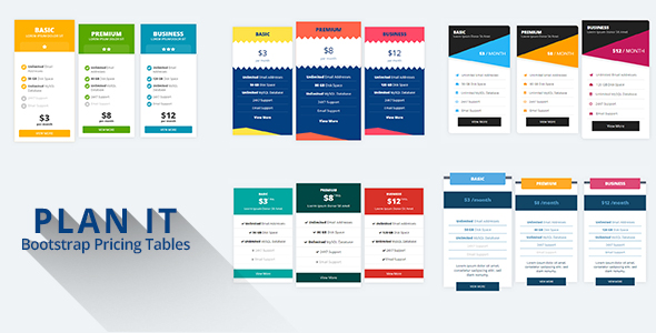 PLAN IT - Bootstrap Pricing Tables