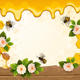 Background with Bees, Flowers and Honeycomb - GraphicRiver Item for Sale