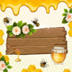 Background with Bees and Honey. - GraphicRiver Item for Sale