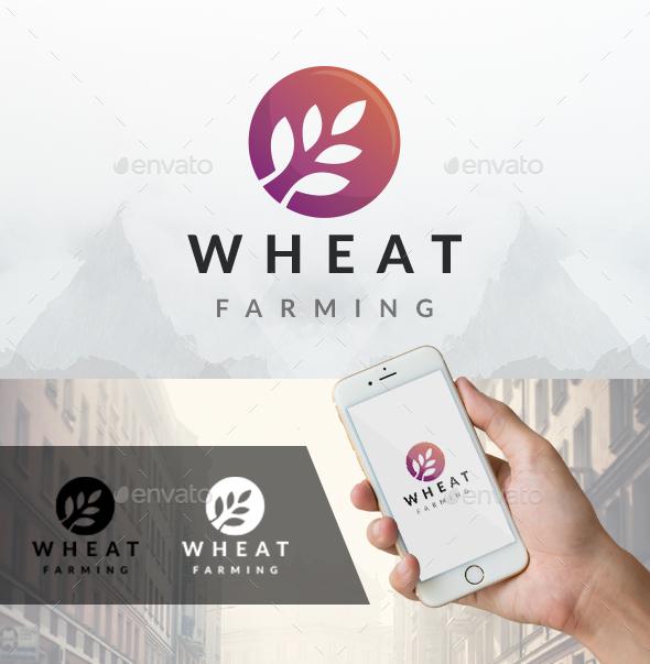 Modern Wheat Logo