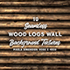 10 Wood Logs Wall Background Texture - 3DOcean Item for Sale