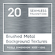 20 Brushed Metal Background Textures - 3DOcean Item for Sale