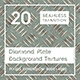 20 Diamond Plate Background Textures - 3DOcean Item for Sale
