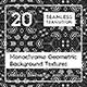 20 Monochrome Geometric Backgrounds - 3DOcean Item for Sale