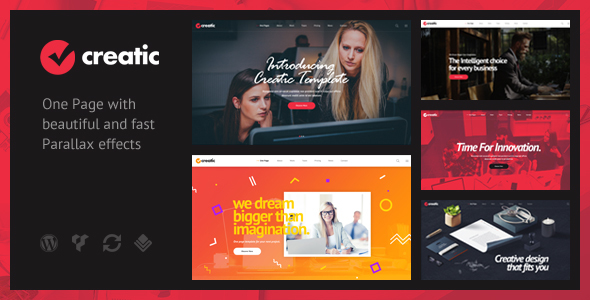 Creatic - One Page Creative Parallax WordPress Theme