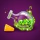 Bottle of Magic Elixir with Skulls - GraphicRiver Item for Sale