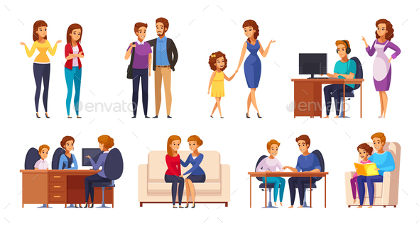 Children with Parents Set