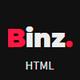Binz - Parallax One Page Template