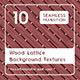 10 Wood Lattice Background Textures - 3DOcean Item for Sale
