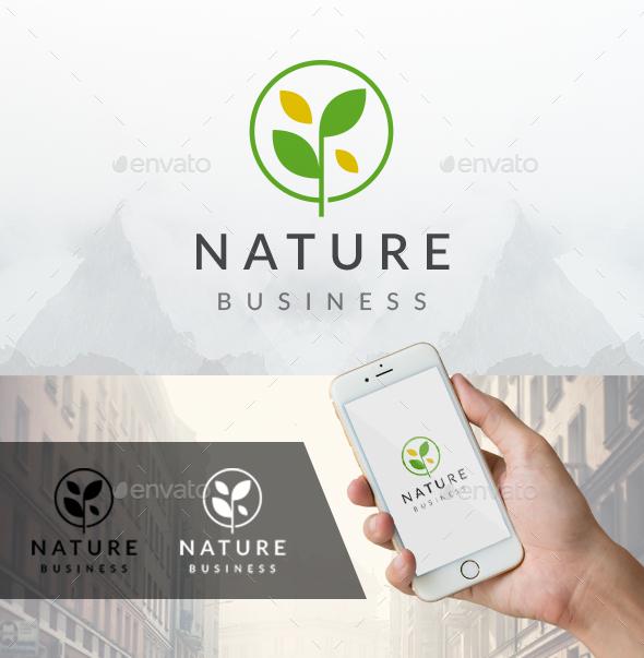 Nature Circle Leaf Logo