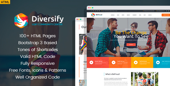 Diversify - LGBT Community HTML Template