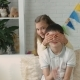 Funny Boy and Girl of School Age Spending Time at Home - VideoHive Item for Sale