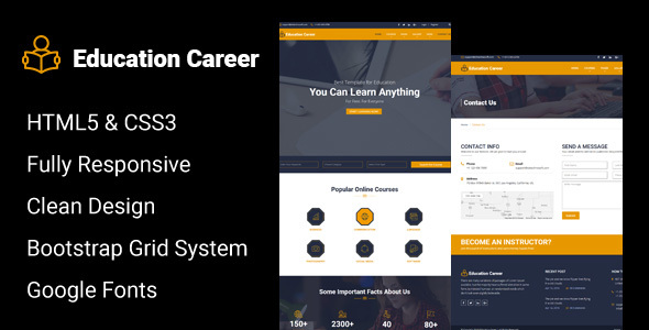 Education Career - Education HTML Responsive Template