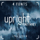 Upright Font Family - GraphicRiver Item for Sale