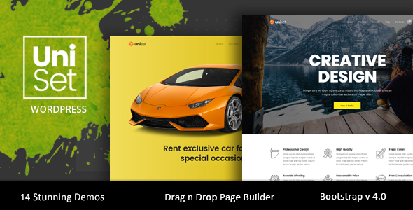UniSet - Landing Page WordPress Theme